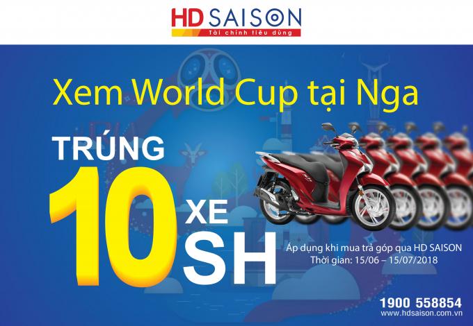 HD SAISON tặng xe SH.