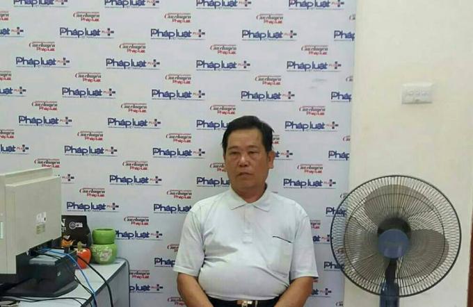 Ông Nguyễn Văn Tuấn trình bày tại Tòa soạn Phapluatplus.vn.