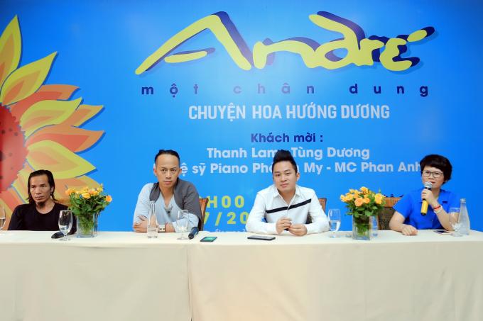 Lần đầu tiên, Andre' đã quyết định thực hiện một đêm diễn nghệ thuật để quy tụ những người bạn thân thiết cùng tham gia tại Hà Nội.