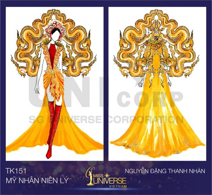 """Bánh mì, Trưng Nữ Vương... lọt top 15 """"Thiết kế trang phục dân tộc cho đại diện Việt Nam tại Miss Universe"""""""