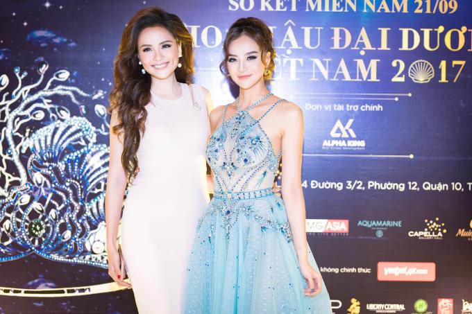Hoa hậu Diễm Hương và Hoa hậu Kiều Ngân cùng xuất hiện trong sự kiện Hoa hậu Đại Dương.