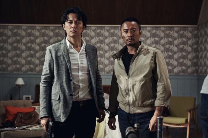 2 diễn viên Trương Hàm Dư và Masahara Fukuyama.