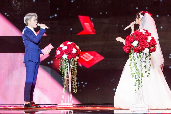 Sau phẫu thuật thẩm mỹ, Đức Phúc làm chú rể bảnh bao bên cô dâu Jang Mi