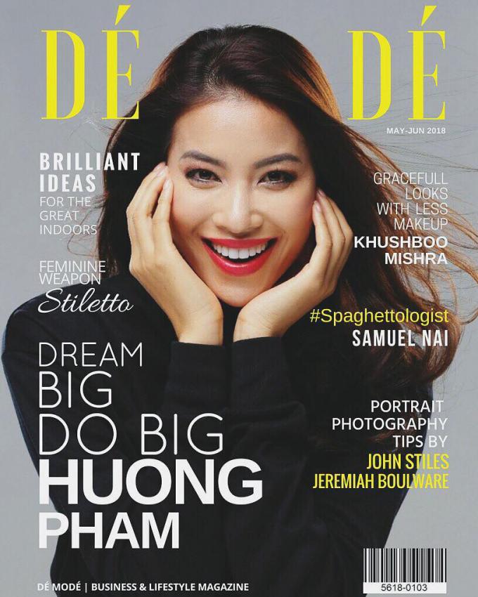 Tờ tạp chí số phát hành tháng 6/2018 bất ngờ có hình ảnh Hoa hậu Phạm Hương ngay trang bìa và dành hẳn 4 trang để giới thiệu về Hoa hậu Hoàn vũ Việt Nam 2015.