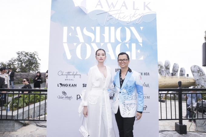 Đạo diễn Long Kan và Hoa hậu Trúc Diễm.