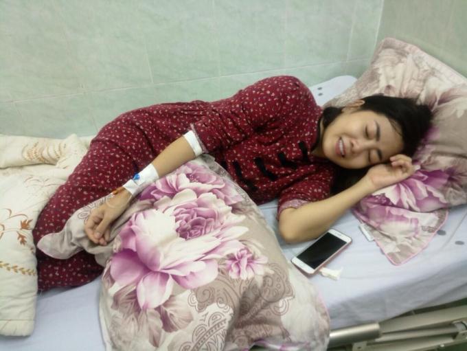Diễn viên Mai Phương dù mệt nhưng vẫn lạc quan trước bệnh tật.