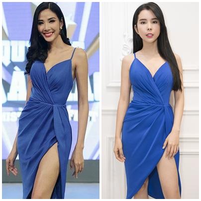 Huỳnh Vy quyết định diện lại bộ váy quyến rũ từng được Á hậu Hoàng Thùy mặc trong một chương trình truyền hình.