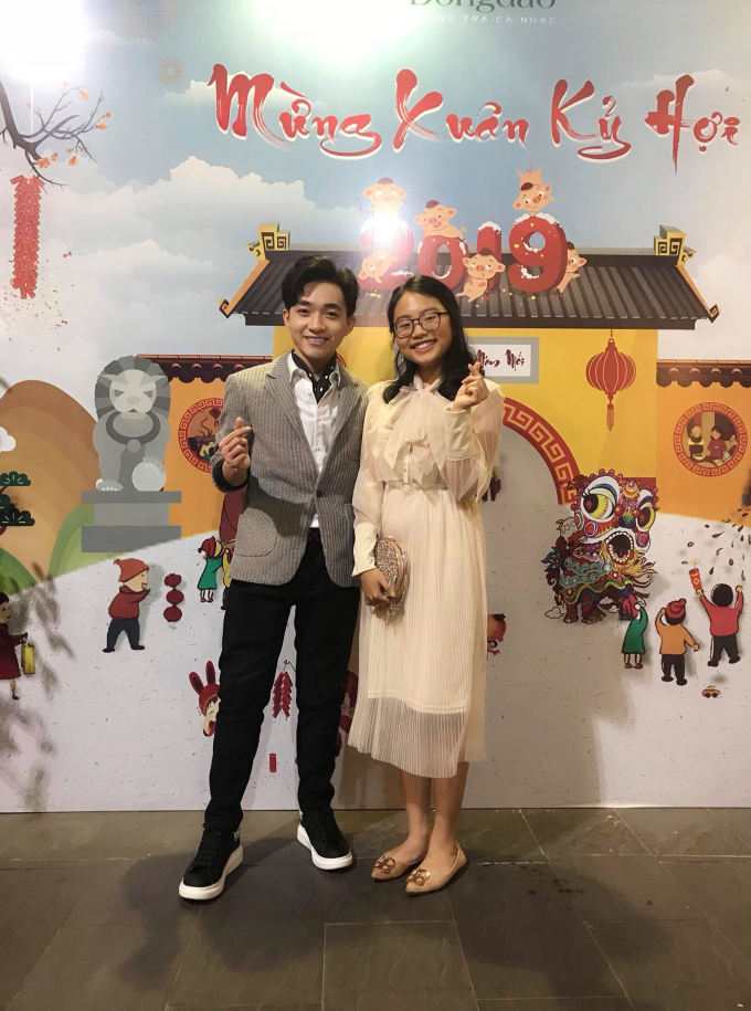Trung Quang có sự kết hợp với Phương Mỹ Chi trong bài hát Đính ước.