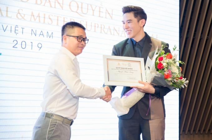 Minh Trung trở thành giám đốc củaMister International.