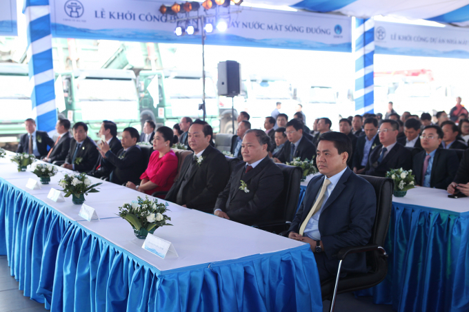 Hà Nội: Khởi công dự án nhà máy nước mặt sông Đuống