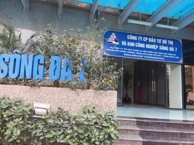 Công ty Cổ phần Đầu tư đô thị và Khu công nghiệp sông Đà 7.