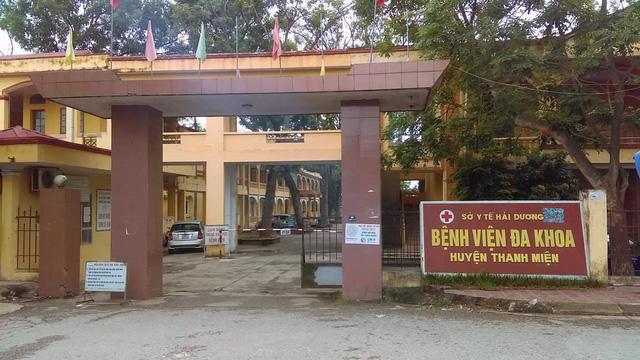 Bệnh viện Thanh Miện nơi xảy ra vụ việc