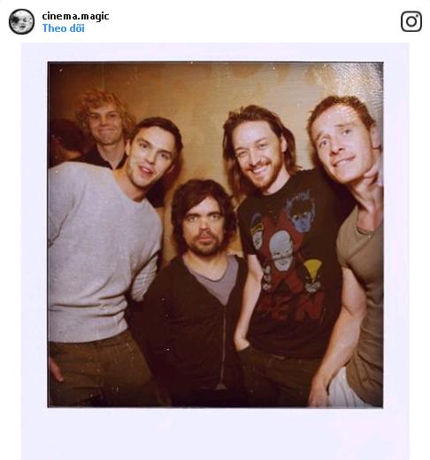 """Bức hình selfie cực hiếm của dàn dị nhân trong bộ phim """"X-Men: Ngày cũ của tương lai""""."""