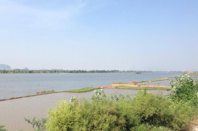 Đoạn sông Đáy chảy qua địa phận huyện Ý Yên, tỉnh Nam Định.