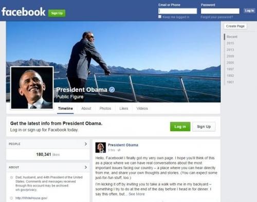 Trang Facebook cá nhân của Tổng thống Mỹ. (Ảnh: Reuters)