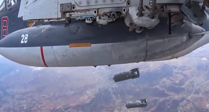 Lực lượng không quân Nga tấn công các mục tiêu khủng bố. (Ảnh:Sputnik)