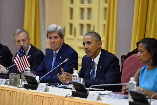 Tổng thống Mỹ Obama hội đàm song phương với Chủ tịch nước Trần Đại Quang.