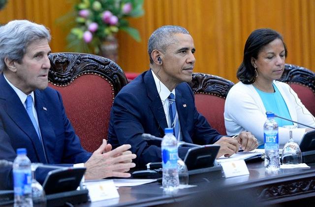 Tổng thống Mỹ Barack Obama đã hội kiến với Thủ tướng Nguyễn Xuân Phúc tại Văn phòng Chính phủ.(Ảnh: Dân trí)