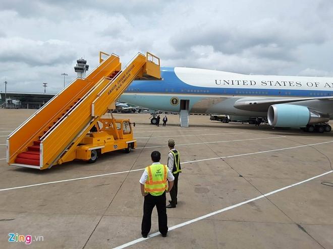 An ninh được thiết chặt tại sân bay Nội Bài. (Ảnh: Zing.vn)