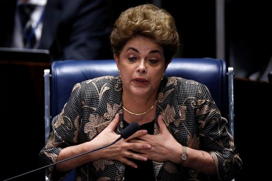 Bà Dilma Rousseff bị phế truất. (Ảnh: Reuters)