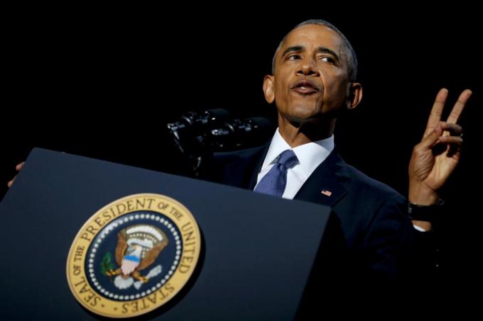 Bài phát biểu tại Trung tâm Hội nghị McCormick Place, Chicago kết thúc 2 nhiệm kỳ tổng thống của ông Obama tại Nhà Trắng. (Ảnh: Reuters)