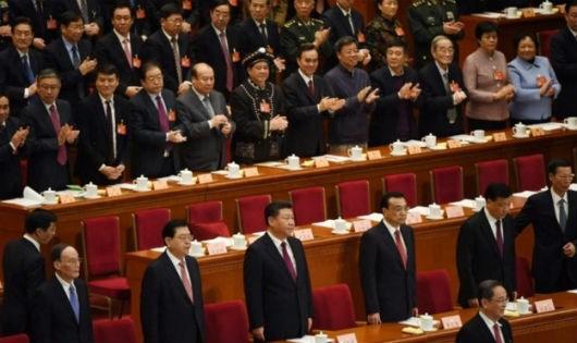 Các quan chức Trung Quốc trong một kỳ họp quốc hội. (Ảnh AFP)