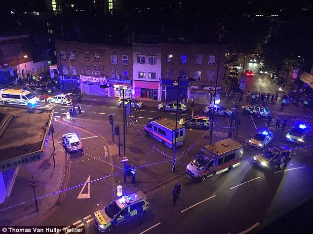 Cảnh sát nhanh chóng có mặt tại hiện trường.