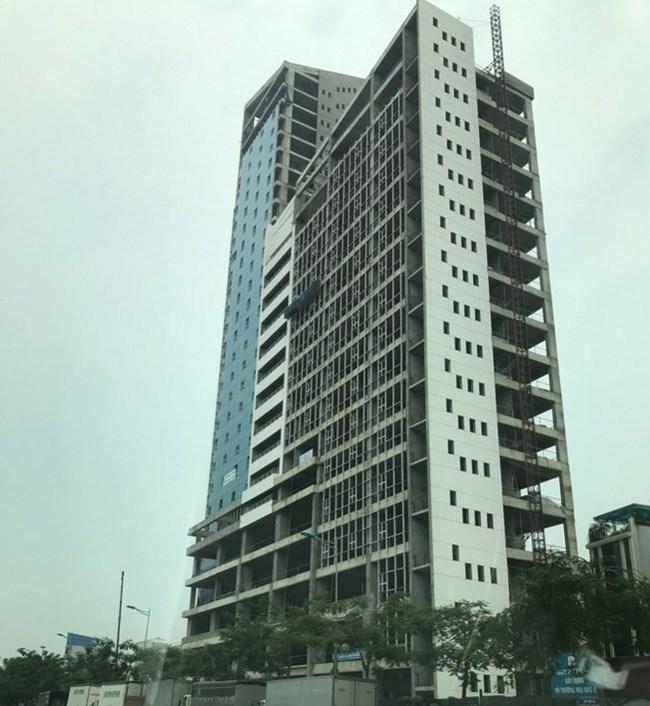 Khu liên cơ đang được hoàn thiện trên đường Võ Chí Công.