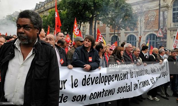 Hiệp hội Liên đoàn lao động lớn thứ hai của Pháp Confédération Générale du Travail (CGT) dự kiến biểu tình phản đối đề xuất của Tổng thống Macron.