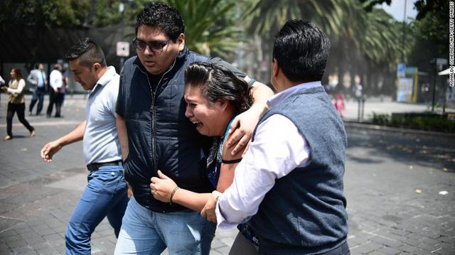 Lại động đất lớn ở Mexico, hơn 139 người thiệt mạng