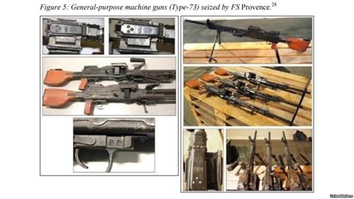 Các súng máy Type 73 của Triều Tiên (Ảnh: Yonhap)