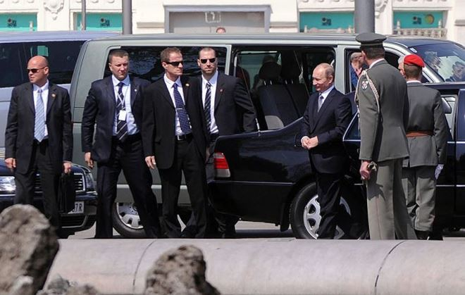 Đội bảo vệ tổng thống Nga V.Putin