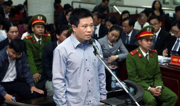 Hà Văn Thắm tại phiên tòa sơ thẩm.