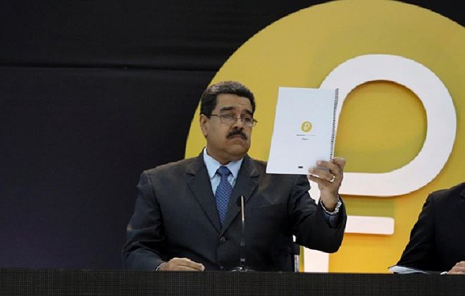 """Tổng thống Maduro nhấn mạnh tiền điện tử """"Petro vàng"""" thậm chí sẽ mạnh hơn đồng Petro."""