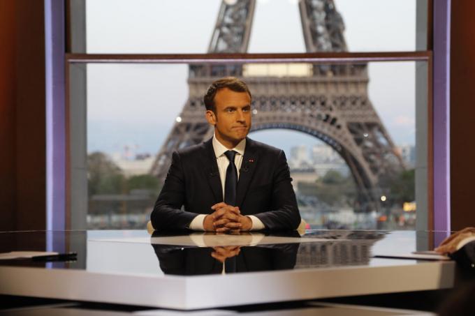 Tổng thống Pháp Emmanuel Macron tại Paris, Pháp ngày 15/4. (Ảnh: Reuters)