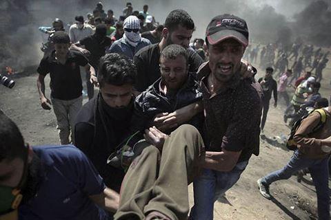 Cuộc đụng độ giữa người Palestine và lực lượng an ninh Israel khiến nhiều người bị thương.
