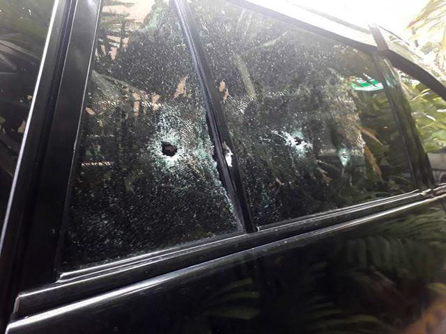 Ông Alih bị bắn khi ngồi ghế phụ. (Ảnh: PhilStar)