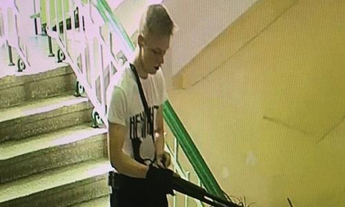 Nghi phạm thực hiện vụ tấn công xả súng tạitrường cao đẳng tại Kerch. (Ảnh:Twitter).