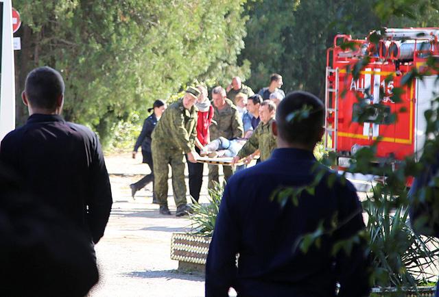 Hiện trường xảy ra vụ đánh bom, xả súng.