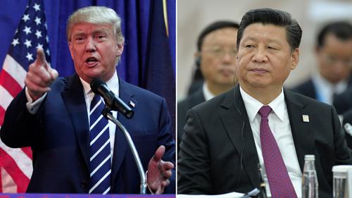 Tổng thống Mỹ Donald Trump (trái) và Chủ tịch Trung Quốc Tập Cận Bình. Ảnh:AP.
