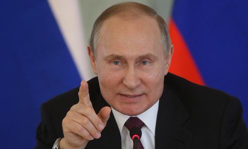 Tổng thống Putin trong một cuộc họp báo hồi năm 2018. Ảnh:TASS.