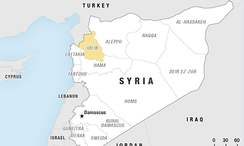 Khu vực tỉnh Idlib, Syria. (Ảnh:NPR)