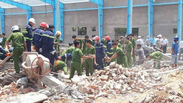 Hiện trường vụ tai nạn lao động