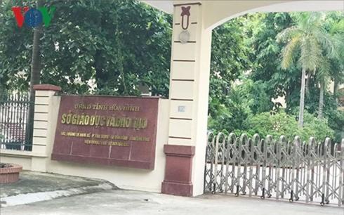 Sở Giáo dục và Đào tạo tỉnh Hòa Bình