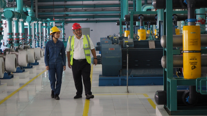 Hệ thống lọc nước biển tại nhà máy Nhiệt điện Vĩnh Tân 1.