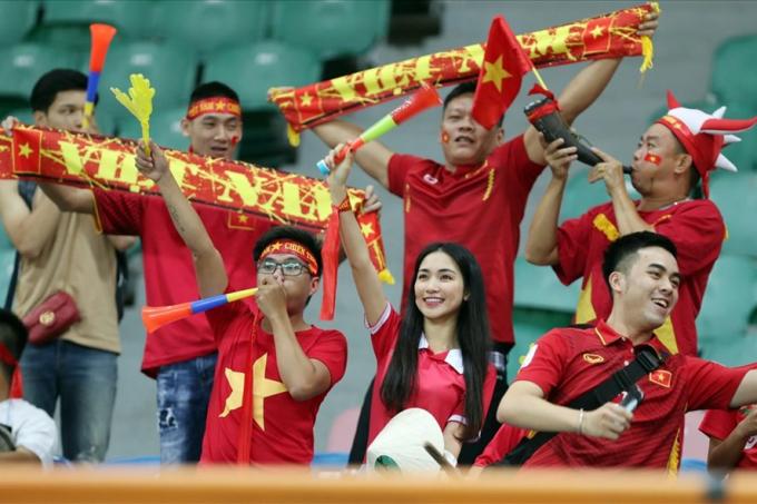 Chỉ có số ít khán giả đến Indonesia xem U23 VN. Ảnh: Đ.Đ