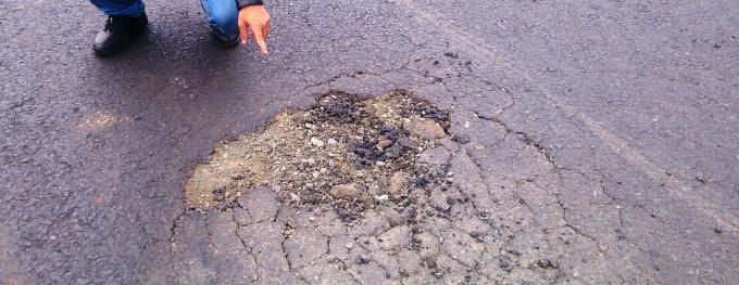 Điểm đen giao thông vừa hoàn thành đã hỏng trên Quốc lộ 29.