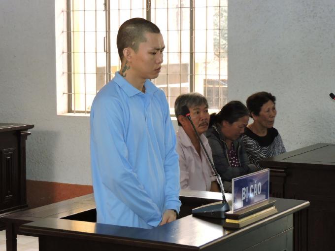 Bị cáo Trần Kiêm Hoàng tại phiên xét xử ngày 7/9/2018.