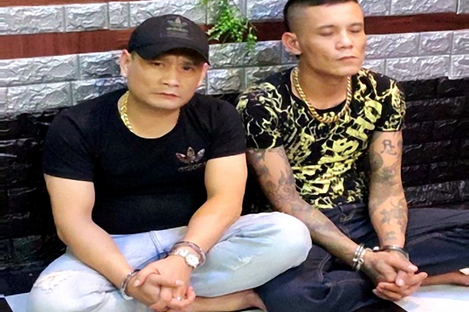 Ảnh các đối tượng tại cơ quan điều tra Công an TP Pleiku, tỉnh Gia Lai