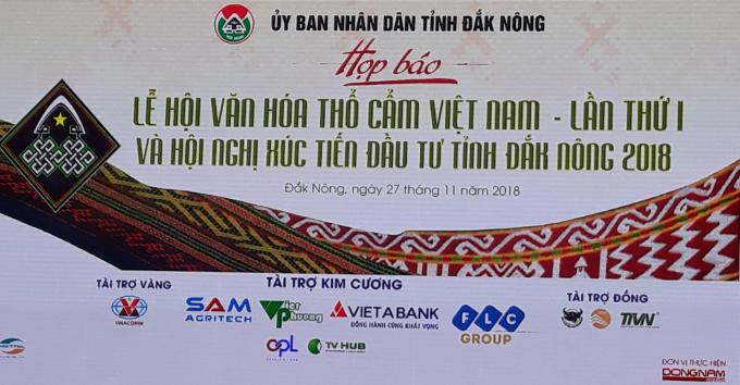 Họp báo giới thiệu về Lễ hội văn hoá thổ cẩm Việt Nam năm 2018 lần thứ 1 tạiĐắk Nông.